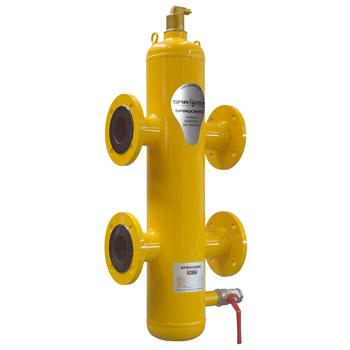 Spirocross compensador hidráulico, separador de aire y lodos