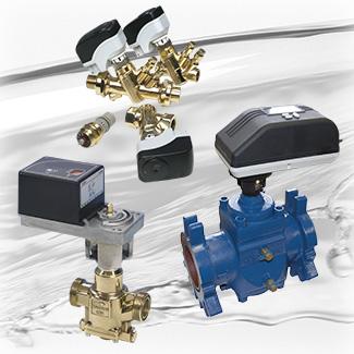 Reguladores automáticos de caudal K-Flow®, con válvula de dos vías motorizada para control analógico o digital, P, PI o PID