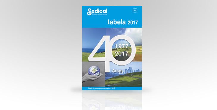 Sedical apresenta a nova Tabela 2017