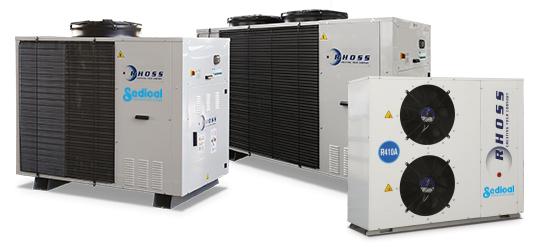 Sedical presenta la nueva gama de enfriadoras y bombas de calor Inverter Compact-I