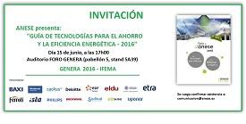 """Sedical le invita a la presentación de la """"Guía de Tecnologías para el Ahorro y la Eficiencia Energética"""" a cargo de ANESE"""