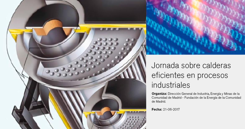 Jornada sobre calderas eficientes en procesos industriales