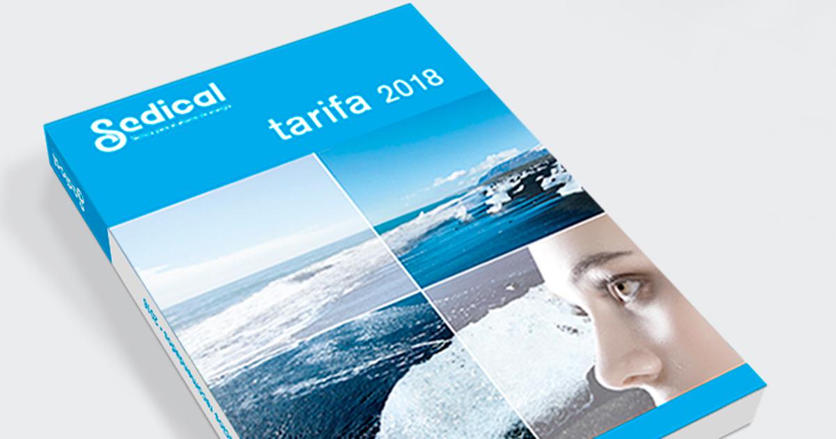 Tarifa Sedical 2018