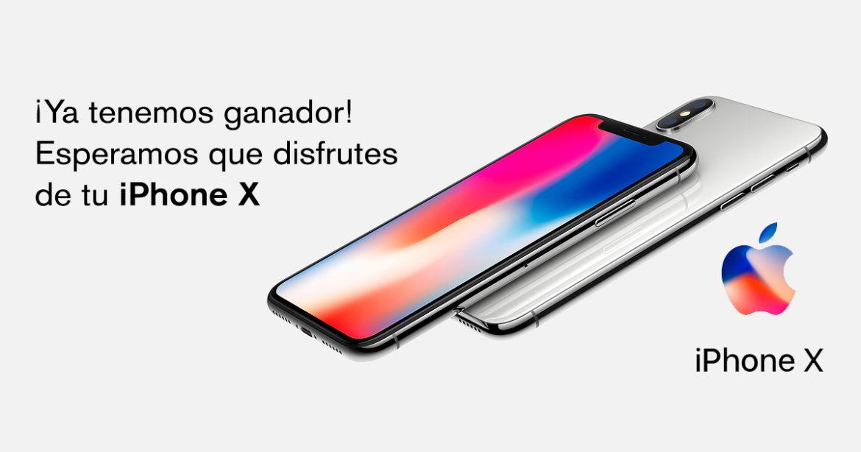 Ya tenemos ganador del sorteo de un iPhone X