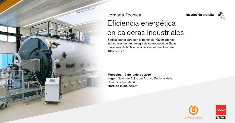 Jornada técnica sobre eficiencia energética en calderas industriales